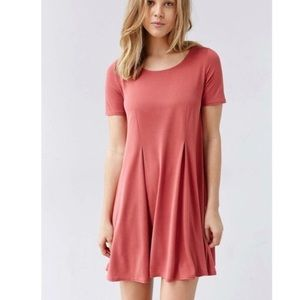 Silence + Noise pink/red t shirt dress